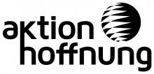 Logo aktion hoffnung schwarz-weiß