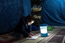 Lernen im Flüchtlingslager