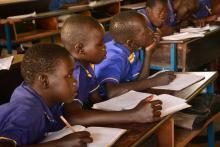 Schülergruppe im Südsudan