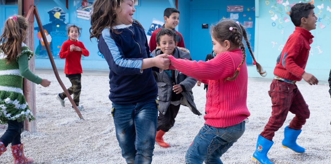 Kinder gruppe beim Spielen