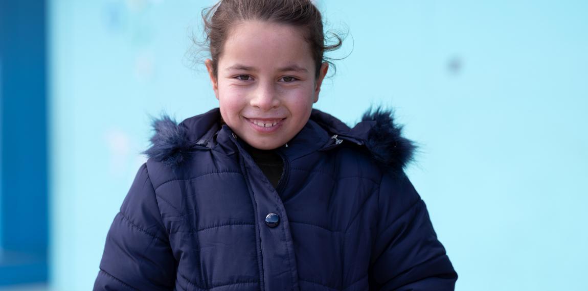 Mädchen im Flüchtlingslager
