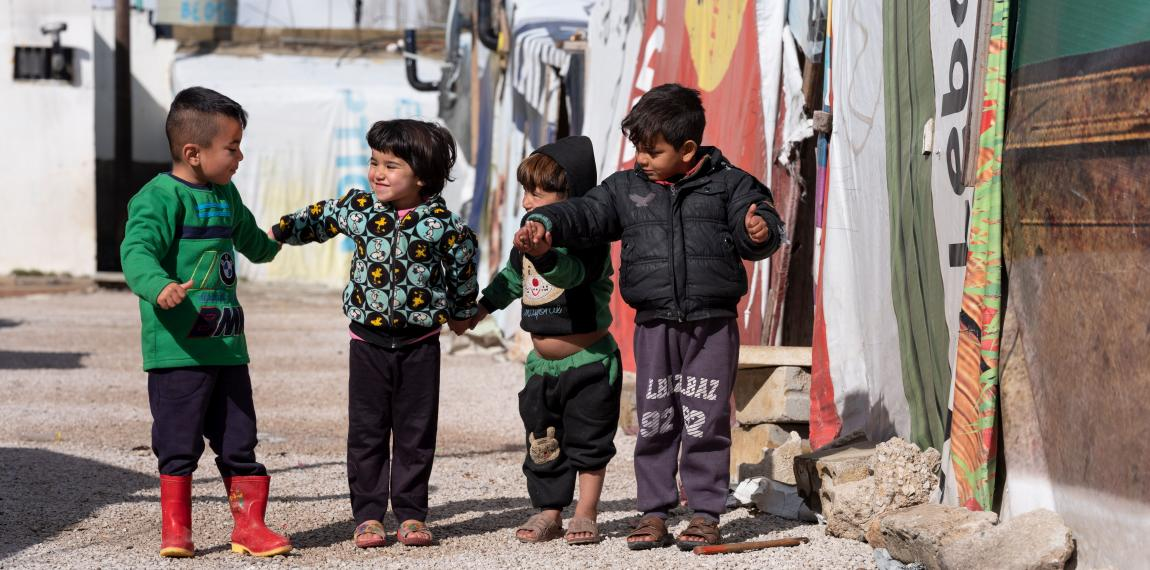 Kinder im Flüchtlingslager im Libanon
